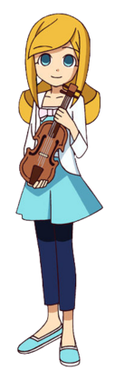 Marie with violin