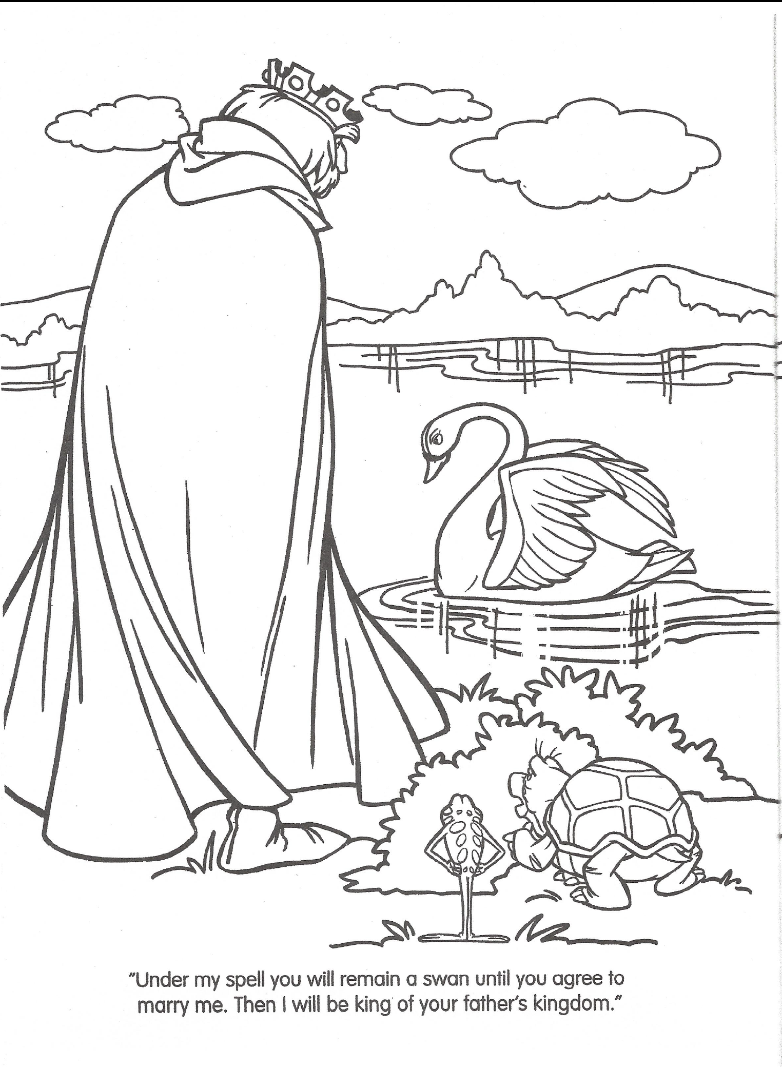 image swan princess official coloring page 11 png richard rich