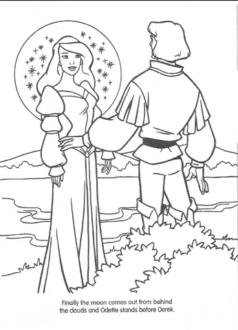 FileSwan Princess Official Coloring Page 35