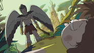 Birdperson Saving Morty