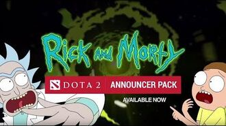Rick and Morty Announcer Pack for DOTA 2 available now