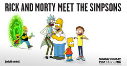 Rick and Morty Meet The Simpsons