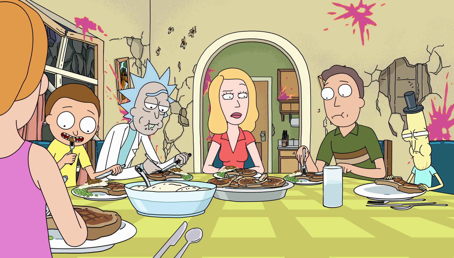 Image S2e4 Enjoying Dinnerpng Rick And Morty Wiki