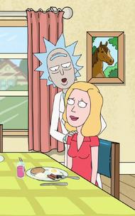 Rick elogia la cucina di Beth