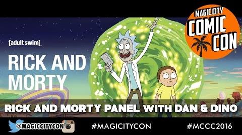 Rick and Morty Panel with Dan Harmon and Dino Stamatopoulos at Magic City Comic Con Jan 2016