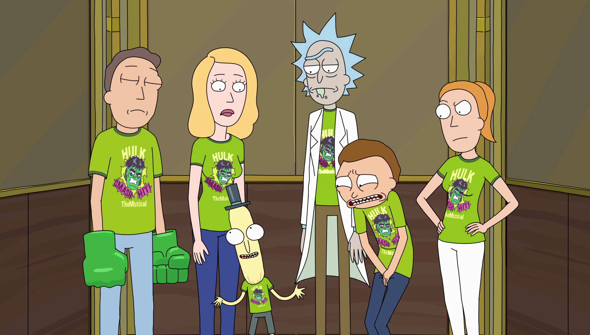 Image S2e4 Fam In Elevatorpng Rick And Morty Wiki