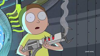 Morty reacts to shooting glenn