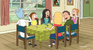 Morty's girlfriend with Morty's family