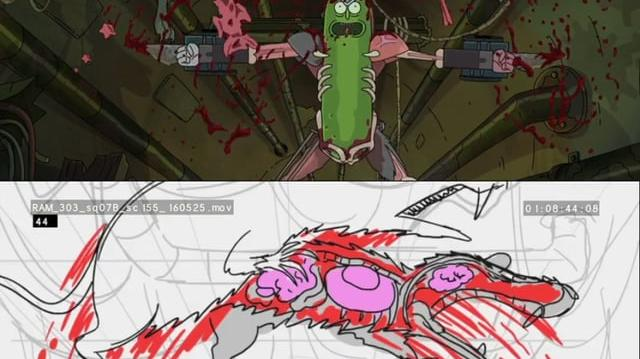 Rick and Morty - Storyboards Pickle Rick vs