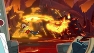 S2e4 magma monster spewing on morty