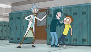 S1e1 rick distractedly to the rescue