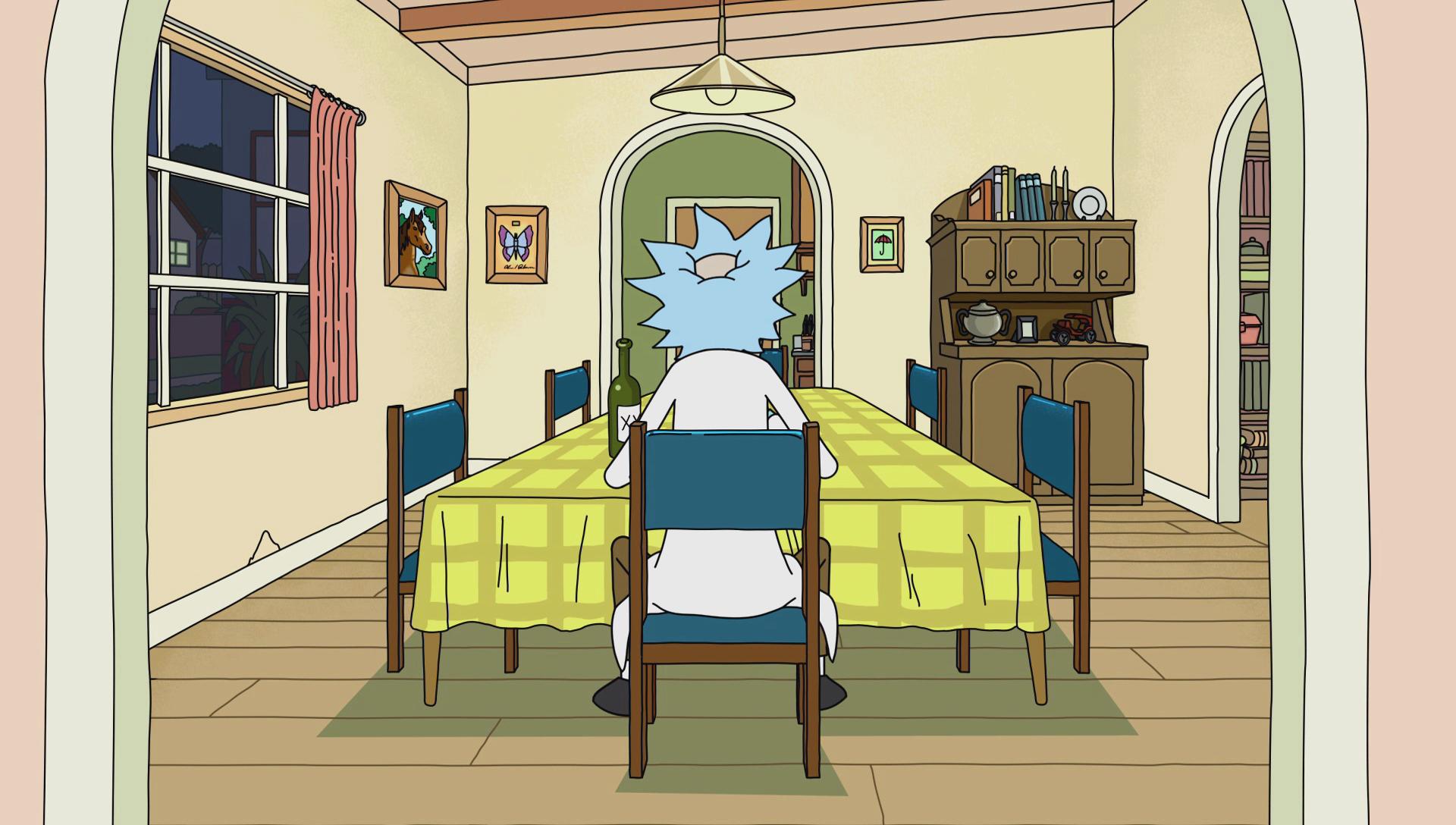 S1e9 Lonely Rick Eating Dinner