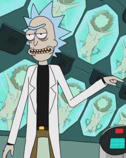 Evil Rick Close-Up