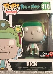 Funko-Pop-Rick-and-Morty-416-Rick-with-Helmet-GameStop-Blips-and-Chitz-Mystery-Box-Exclusive