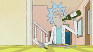 S1e9 rick drinking alone