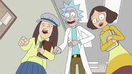 S2e4 girls and rick laugh