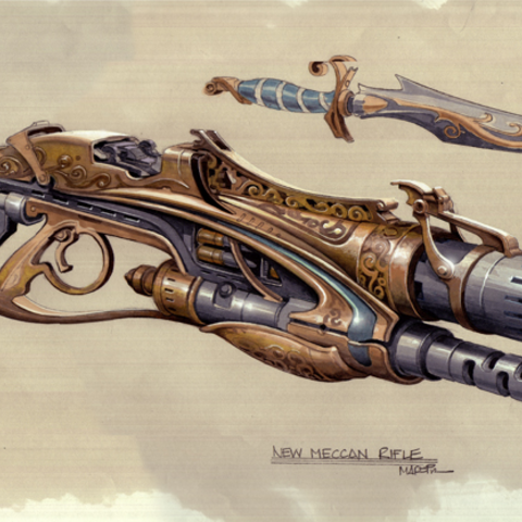 Helion Rifle concept by Jim Martin