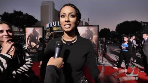 Keri Hilson hits the red carpet for Riddick World Premier