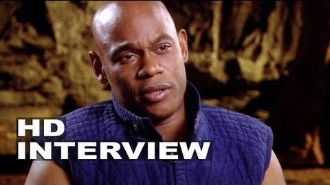 """Riddick Bokeem Woodbine """"Moss"""" On Set Interview"""