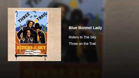 Blue Bonnet Lady