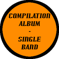 Compilation Album Single Band Button