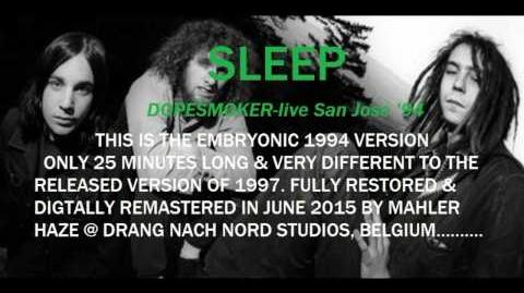 "SLEEP ""Dopesmoker"" live 1994-early version!! REMASTERED!! RARE!!!!"