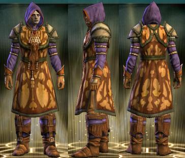 Yellow Robe Set Male