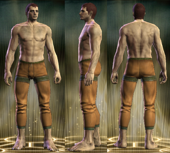 Yellow Robe Legs Male