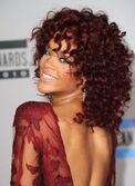 2010 American Music Awards Rihanna in Elie Saab red hair red dress