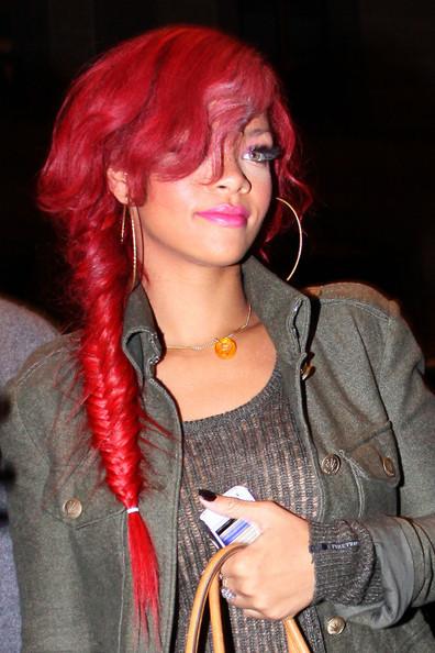 Rihanna Long Braided Hairstyle Large 3