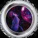 Silver Badge Disco Bird