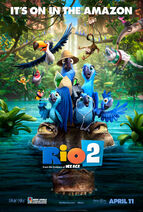 Rio 2 poster it's on in the amazon (1)