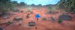 Голубчик видит как лесорубы уничтожают джкнгли