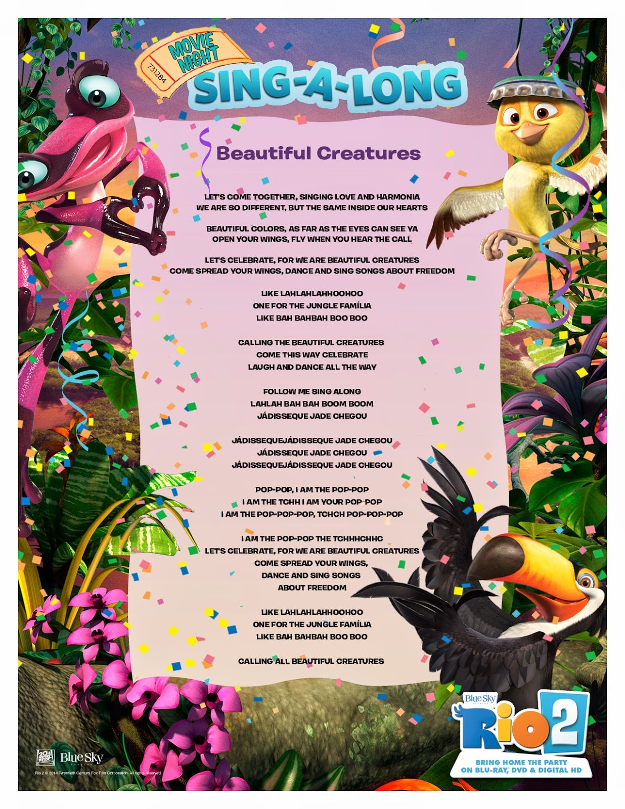 Image rio 2 sing along beautiful creaturesg rio wiki rio 2 sing along beautiful creaturesg stopboris Images