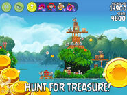 Angry birds rio treasure hunt level