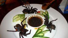 Fried Tarantula in Cambodian Restaurant