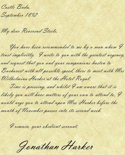 Letter from Harker