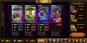 Rise of Mythos Card Shop