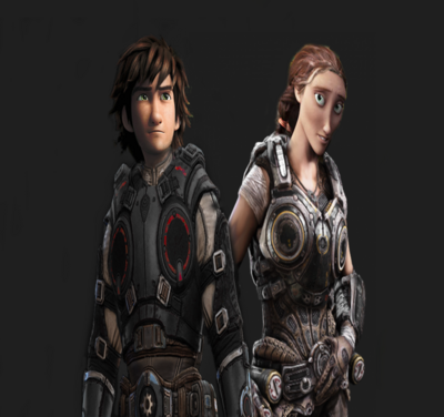 Gears of war hiccup and valka by authress-d837h42