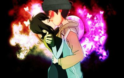 Mavis and once ler kiss by katmila-d7dhnol