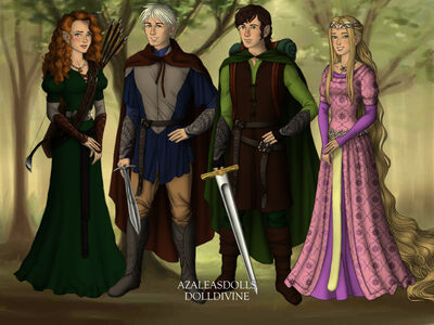 The big four lord of the rings by evenstar29-d7r5kfv