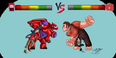Big hero 6 vs wreck it ralph by sweetdragoncathy-d858zom