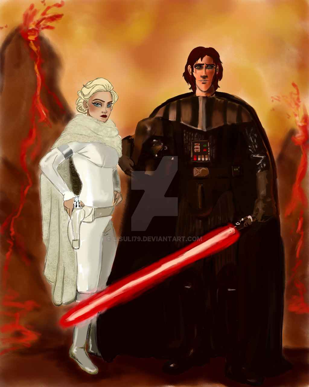 Crossovers King And Queen: Star Wars Crossover By Lisuli79-d9fva0s