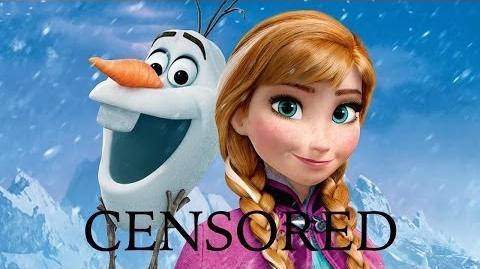 FROZEN (CENSORED) 2 Unnecessary Censorship Recap Censored Disney Funniest Best Moments Parody