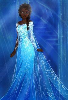 Elsa as black