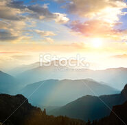 Stock-photo-19160200-sunset-over-mountains