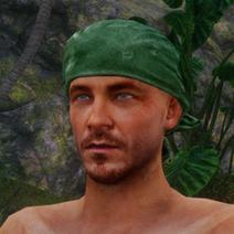 Grünes Kopftuch