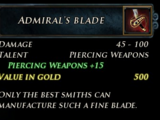 Admiral's Blade