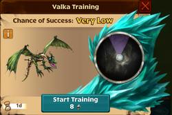 Knocks Valka First Chance