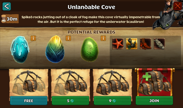 Unlandable Cove